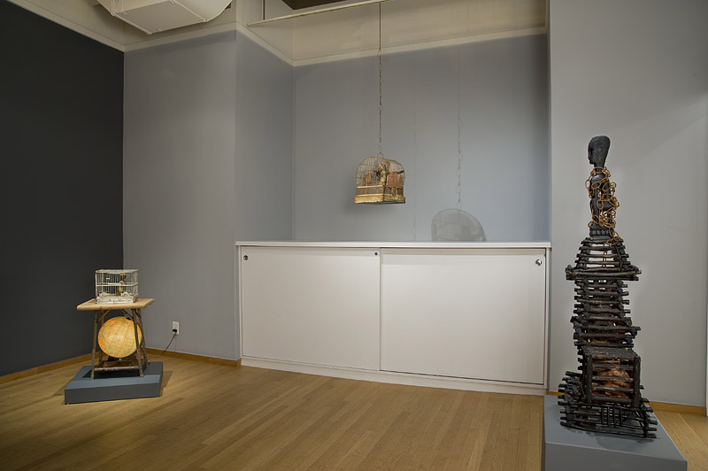Installation Views - Betye Saar: CAGE, A New Series of Assemblages and Collages - November 6, 2010 – January 15, 2011 - Exhibitions