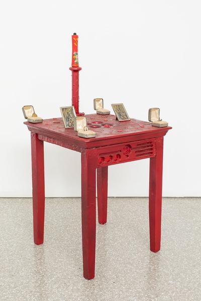Betye Saar (b.1926) Red Table, 1983 mixed media co...