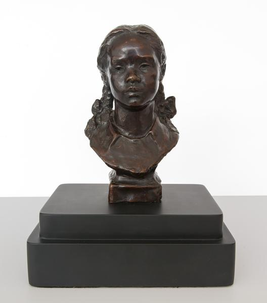 Untitled (Girl with Pigtails), c.1935 bronze mount...