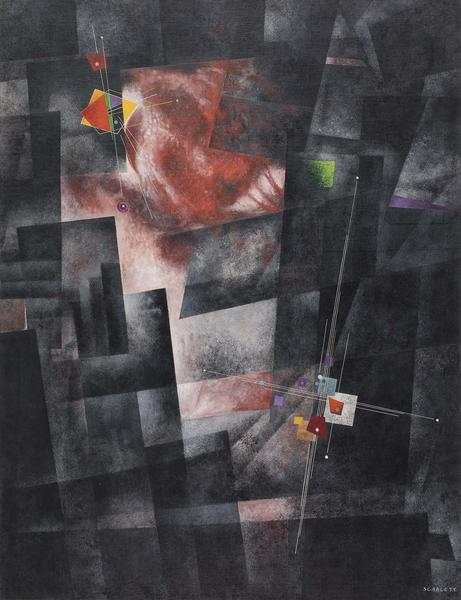 "Untitled, c.1934 oil on canvas 55"" x 42 1/2&q..."