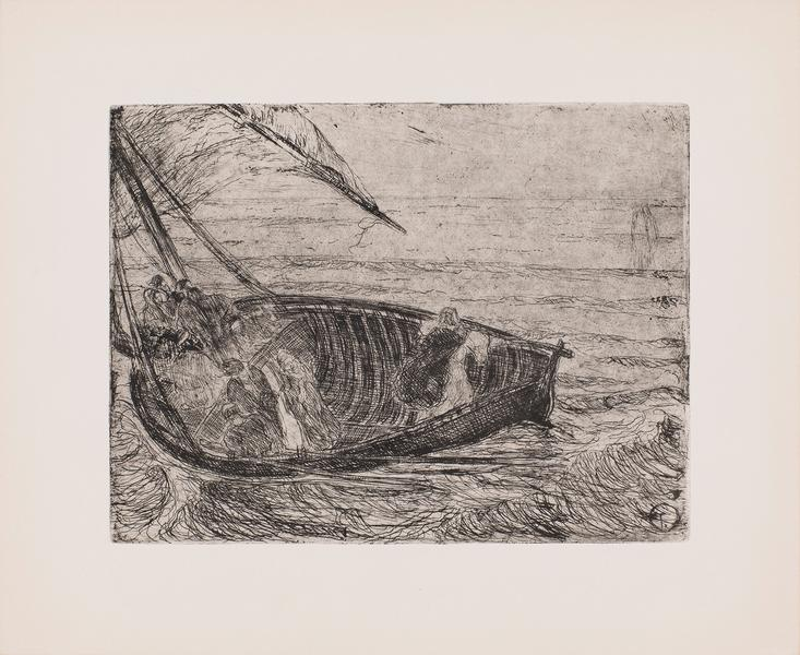 Christ Walking on the Waters, c.1910 etching on pa...