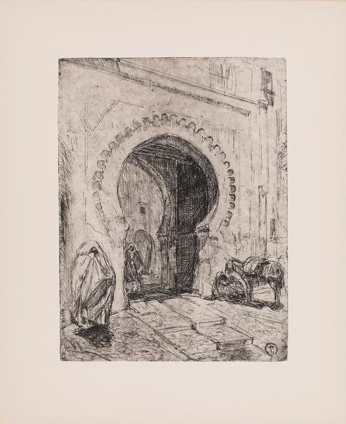 Gate in Tangier, c.1912-1914 etching on paper 13 1...