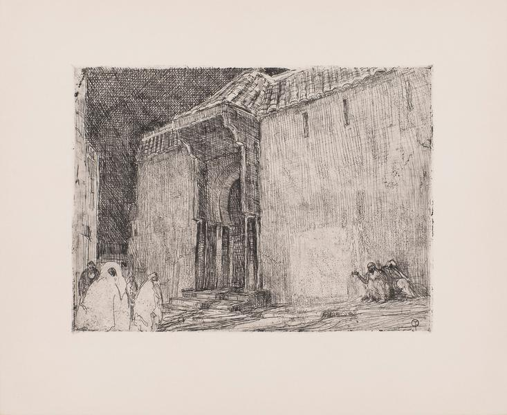 Mosque, Tangier, c.1910 etching on paper 10 7/8&qu...