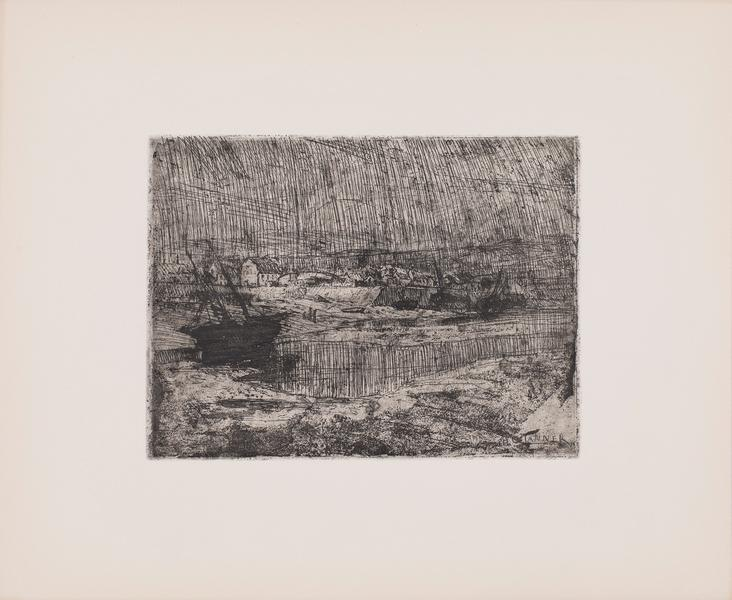 "The Wreck, c.1913 etching on paper 10 7/8"" x..."