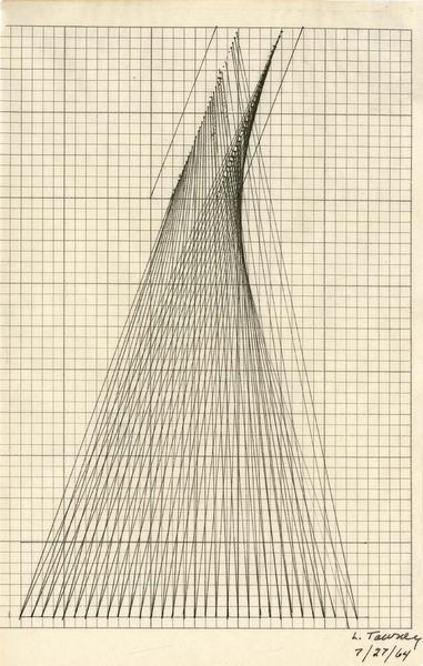 "Untitled, 1964 ink on paper 7 3/4"" x 4 7/8&qu..."