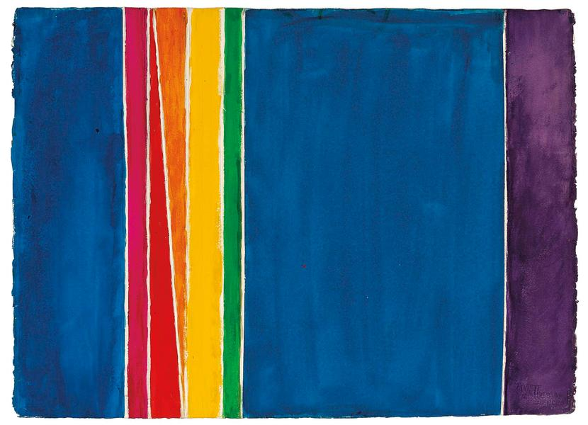 Alma Thomas (1891–1978) Untitled, 1972 acryl...