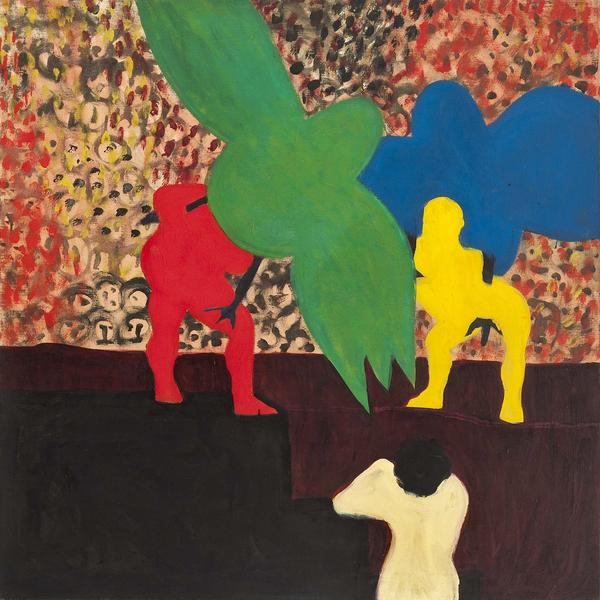 "The Circus, 1963 oil on canvas 36 3/8"" x 36 3..."