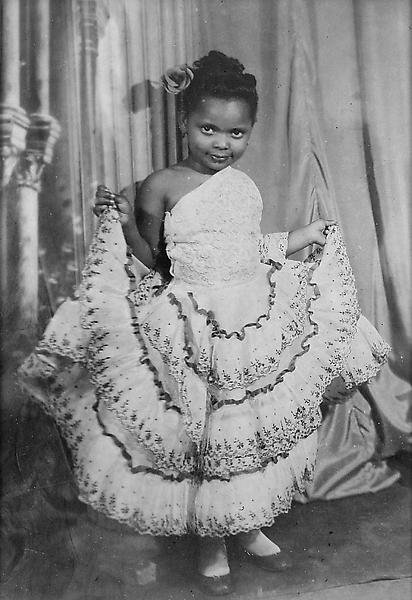 Portrait of Girl with Fancy Dress, 1938 vintage ge...