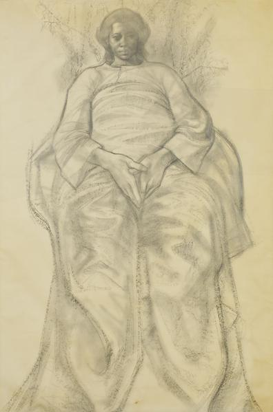 Charles White (1918-1979) Study for Cathedral of L...