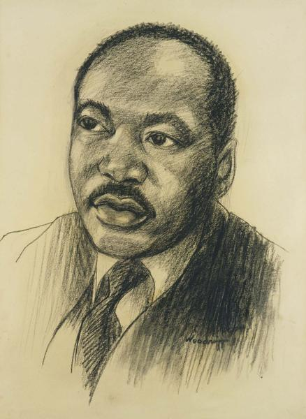 Hale Woodruff (1900-1980) Martin Luther King, c.19...