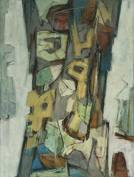 Hale Woodruff (1900-1980) Portal 2, c.1968 oil on&...