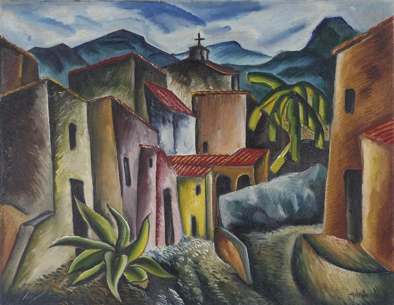 "San Miguel Allende, 1936 oil on canvas 22 1/4""..."