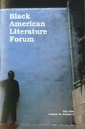 Black American Literature Forum, Fall 1990