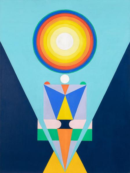Vajrayana, 1969 oil on canvas 48 x 36 inches signe...